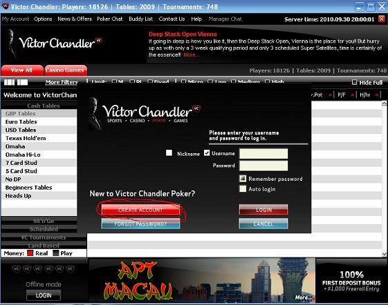 victor chandler login